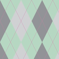1636 Mint & Grey Argyle