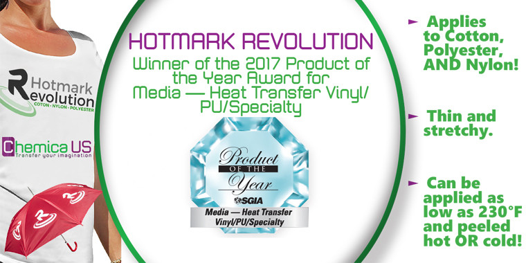 HotMark Revolution wins Product of the Year Award!